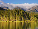 Reflections on Sprague Lake, Rocky Mountain National Park, Colorado, USA Photographic Print by Michel Hersen