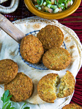 Falafel, Chickpeas Croquettes, Arabic Countries, Arabic Cooking Photographic Print by Nico Tondini