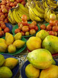 Pawpaw/Papaya, Tomatoes and Bananas, Sigatoka Produce Market, Coral Coast, Viti Levu, Fiji Photographic Print by David Wall