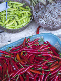 Peppers and Other Produce in a Market in Hoi An, Vietnam Photographic Print by David H. Wells