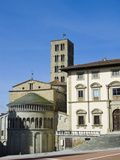 Fraternita Dei Laici Building and Church of Santa Maria Della Pieve, Piazza Vasari, Arezzo, Italy Photographic Print by Nico Tondini