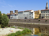 Arno River, Firenze, UNESCO World Heritage Site, Tuscany, Italy Photographic Print by Nico Tondini
