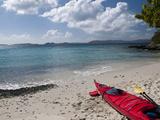 Kayak Tour on Honeymoon Bay, St John, United States Virgin Islands, USA, US Virgin Islands Photographic Print by Trish Drury