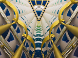 Architectural Details Inside Burj Al Arab Hotel, Dubai, United Arab Emirates Photographic Print by Keren Su
