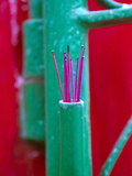 Incense Sticks Outside a Home in Hoi An, Vietnam Photographic Print by David H. Wells