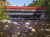 Covered Bridge over the Swift River, White Mountains, New Hampshire, USA Photographic Print by Dennis Flaherty