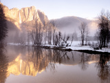 Early Morning Misty Colors in the Valley, Yosemite, California, USA Photographic Print by Tom Norring