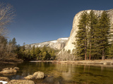 El Capitan Towers over Merced River, Yosemite, California, USA Photographic Print by Tom Norring