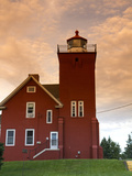 Two Harbors Lighthouse Overlooking Agate Bay, Lake Superior, Two Harbors, Minnesota, USA Photographic Print by David R. Frazier