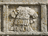 Roman High Relief in the Courtyard of San Pietro Church, Tuscania, Viterbo Province, Latium, Italy Photographic Print by Nico Tondini