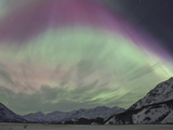 Aurora Borealis, Wrangell Mountains, Alaska, USA Photographic Print by Hugh Rose