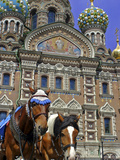 Horses Outside of the Church of the Spilled Blood, St. Petersburg, Russia Photographic Print by Kymri Wilt