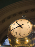 An Illuminated Clock in Grand Central Station, New York, New York, USA Photographic Print by David H. Wells