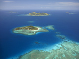 Matamanoa Island and Coral Reef, Mamanuca Islands, Fiji Photographic Print by David Wall