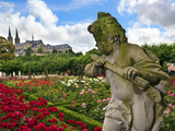 Stone Cherub, Rosengarten, the Neue Residenz, Bamberg, Germany Photographic Print by Miva Stock