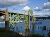 Us 101 Bridge, Newport, Oregon, USA Photographic Print by Peter Hawkins