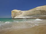 Cliffs at Tunnel Beach, Dunedin, South Island, New Zealand Photographic Print by David Wall