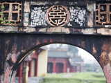 Carved Arch Inside the Imperial Palace, in Hue, Vietnam Photographic Print by David H. Wells