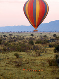 Hot-Air Ballooning, Masai Mara Game Reserve, Kenya Photographic Print by Kymri Wilt