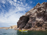 Sea Kayakers, Punta Perico, Isla Carmen, Baja, Sea of Cortez, Mexico Photographic Print by Gary Luhm