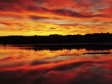 Sunrise on the New Meadows River, Brunswick, Maine, USA Photographic Print by Michel Hersen