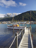 Jetty, Queenstown Bay, Queenstown, South Island, New Zealand Photographic Print by David Wall