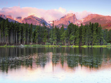 Sunrise Reflections on Sprague Lake, Rocky Mountain National Park, Colorado, USA Photographic Print by Michel Hersen