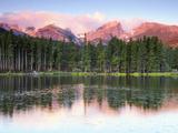 Sunrise Reflections on Sprague Lake, Rocky Mountain National Park, Colorado, USA Photographic Print by Michel Hersen