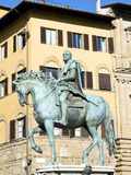 Statue of Cosimo I, Firenze, UNESCO World Heritage Site, Tuscany, Italy Photographic Print by Nico Tondini