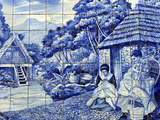 Traditional Azulejos Tiles, Funchal, Madiera, Portugal Photographic Print by Kymri Wilt