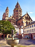 Saint Martin's Cathedral, Mainz, Germany Photographic Print by Miva Stock