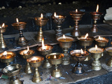 Yak Butter Candles, Dochu La, Bhutan Photographic Print by Dennis Kirkland