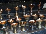Yak Butter Candles, Dochu La, Bhutan Photographic Print by Dennis Kirkland