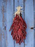 Chili Ristra, Santa Fe, New Mexico, USA Photographic Print by Julian McRoberts