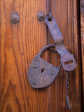 Antique Metal Lock, San Miguel De Allende, Mexico Photographic Print by John & Lisa Merrill