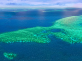 Aerial View of the Great Barrier Reef, Queensland, Australia Photographic Print by Miva Stock