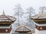 Chortens, Dochu La, Bhutan Photographic Print by Dennis Kirkland