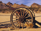 Old Farm Equipment, Ghost Town, Rhyolite, Nevada, USA Photographic Print by Michel Hersen
