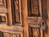 Carved Wooden Door, San Miguel De Allende, Mexico Photographic Print by John & Lisa Merrill