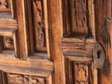 Carved Wooden Door, San Miguel De Allende, Mexico Photographic Print by John & Lisa Merrill