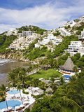 Resorts and Mansions by Acapulco Beach, Acapulco, Mexico Photographic Print by Miva Stock