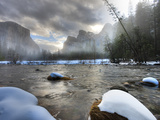 Merced River, El Capitan in Background, Yosemite, California, USA Photographic Print by Tom Norring