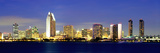 San Diego Skyline, California, USA Photographic Print by John Alves