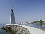 Waterfront Statue, UNESCO World Heritage Site, Nessebur, Bulgaria Photographic Print by Cindy Miller Hopkins