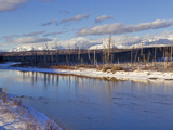 Late Light on the North Fork of the Flathead River in Winter in Glacier National Park, Montana, USA Photographic Print by Chuck Haney