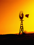 Windmill at Sunset, California, USA Photographic Print by John Alves