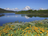 Grand Tetons from the Oxbow, Grand Teton National Park, Wyoming, USA Photographic Print by Michel Hersen