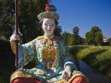 Statues by Chinese Pavilion, Pushkin-Tsarskoye Selo, Saint Petersburg, Russia Photographic Print by Walter Bibikow