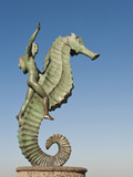 Caballeo Del Mar (The Seahorse) Sculpture on the Malecon, Puerto Vallarta, Mexico Photographic Print by Michael DeFreitas