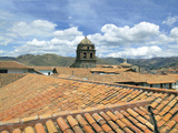Rooftops and Cusco Cathedral, Cusco, Peru Photographic Print by Miva Stock